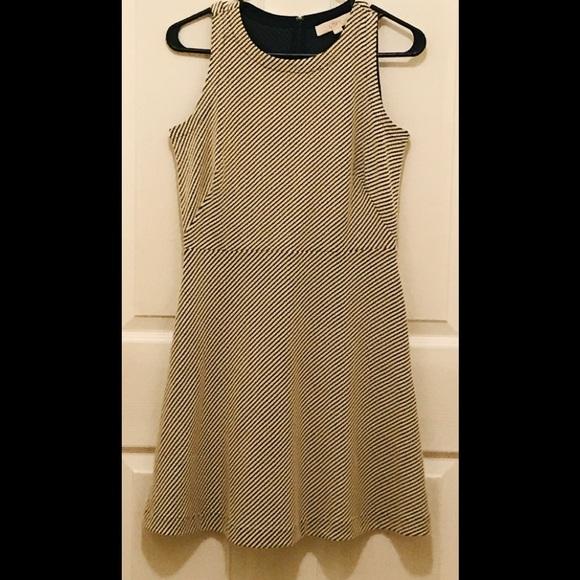 239d406a94 LOFT Dresses | Petite Black White Sleeveless Aline Dress | Poshmark